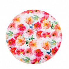 Platou rotativ din lemn flori, platou servire, Diametru 30 cm