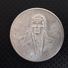 100 pesos 1978 argint