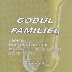 Codul familiei. Adoptia. Protectia copilului - persoanele fizice si juridice (Decret 32/1954) cu modificarile pana la 27 aprilie 2006