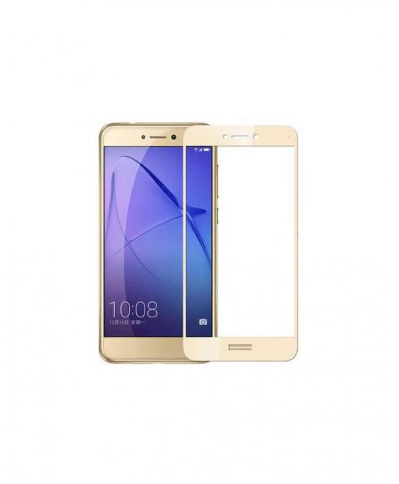 Geam Soc Protector Full LCD 4D Huawei P8 Lite (2017), P9 Lite (2017) Gold
