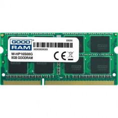 Memorie Laptop Goodram 8GB, DDR3-1600MHz, CL11, 1.5V