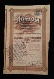 Actiuni 1925 - Societatea de asigurari Agricola - titlu - actiune