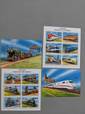 Lesotho - Timbre trenuri, locomotive, cai ferate, nestampilate MNH, Nestampilat