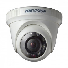 Camera de supraveghere dome IR TVI, HDCVI, AHD, analogic, 1MP TURBO HD, HD Ready 720P, 25 fps,DS-2CE56C0T-IRPF