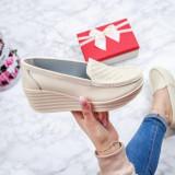 Pantofi dama Piele cu platforma bej Vasimia-rl