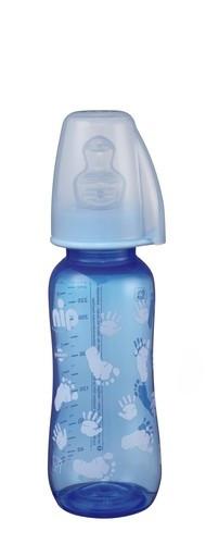 Biberon Trendy Boy PP 250 ml cu tetina silicon pt lapte, nr 1, nip 35036