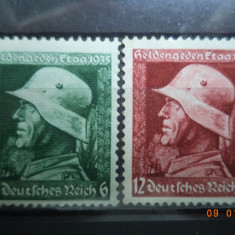1935  Germania ( Reich ) Mi 569 - 570  Serie completa**, Nestampilat