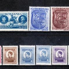 Romania  1943    lot   13  timbre  nestampilate