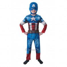 Costum pentru baieti Captain America, varsta 7-8 ani, marime L