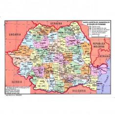 Harta Fizica a Romaniei + Harta Judetelor, Municipiilor si Oraselor Romaniei