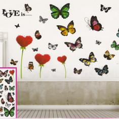 Sticker decorativ 5D Love is + Cadou set Stiker fosforescente