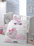 Set lenjerie de pat pentru copii Patik, din bumbac ranforce 100 procente, 100 x 150 cm, 170PTK2010