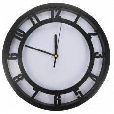 Ceas de perete, negru, diametru 30 cm - CEAS010
