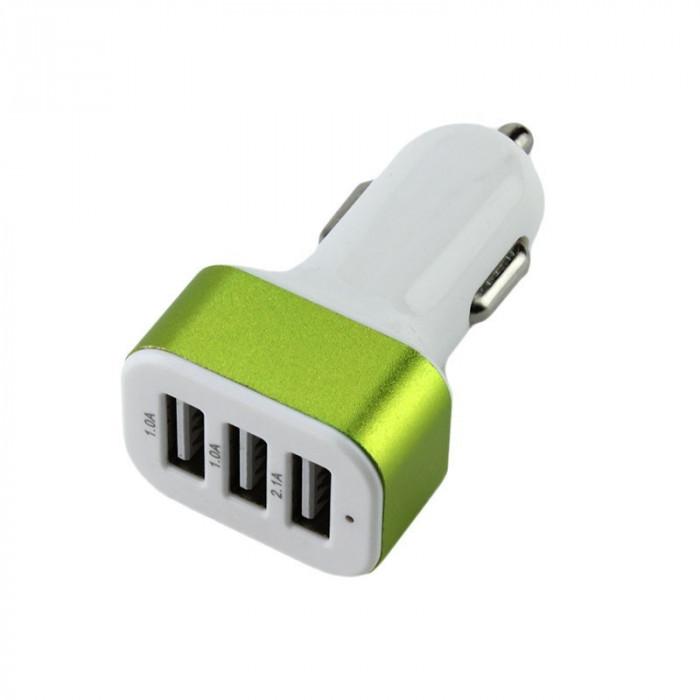 Adaptor bricheta auto, 3 porturi USB, tensiune 12-24V, Nokoko