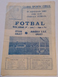 Program meci fotbal OTELUL GALATI - DUNAREA CSU GALATI (12.09.1982)