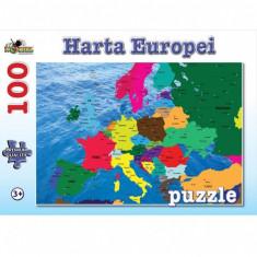 Puzzle 100 piese Harta Europei
