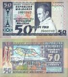 1974 , 50 francs   10 ariary ( P-62a ) - Madagascar - stare XF