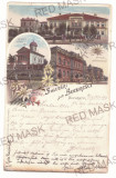 3996 - BUCURESTI, Litho, Romania - old postcard - used - 1897, Circulata, Printata