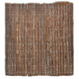 Gard din scoarță de copac, 400 x 100 cm, vidaXL