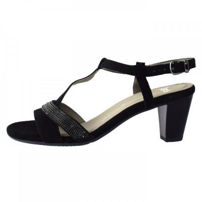 Sandale dama, din piele naturala, marca Ara, 34661-01-13, negru 41 foto