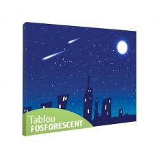 Tablou fosforescent Orasel cu luna