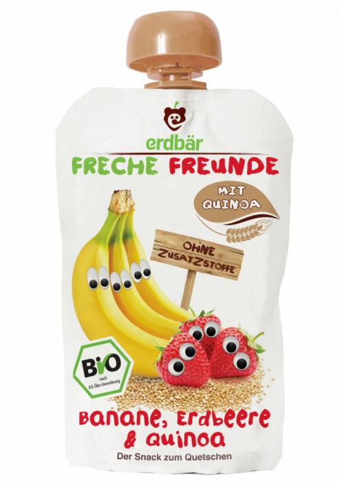 Piure de banane capsuni si quinoa bio 100g