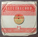 """Disc ebonita 10"""" 1956 - Elly Roman-S-a inoptat in Cismigiu/Gaston Ursu-Serenada"""