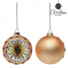 Globuri de Craciun Christmas Planet 1730 8 cm (2 uds) Geam Auriu