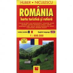 Romania - Harta turistica si rutiera