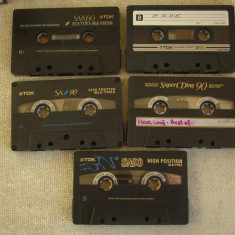 Lot 5 Casete Audio TDK (4 CrO2 si 1 normala) - Inregistrate o singura data - 15