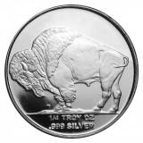 Moneda argint 999 lingou , American Buffalo 1/4 uncie = 7,8 grame