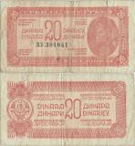 1944 , 20 dinara ( P-51b ) - Iugoslavia