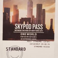 Pentru colectionari, doua bilete folosite intrare One World (WTC) New York 2019