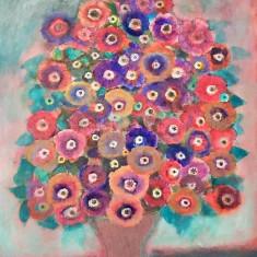 """Pictura Tablou Viorel Marginean """"Vaza cu flori """""""
