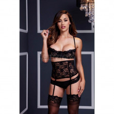 BACI Lacy Bra/ Cincher/ Panty 3 Pc Set - OS