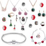 Set 24 bijuterii cu elemente Swarovski dama, multicolor, ambalaj bijuterii tip calendar inclus