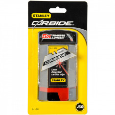 Set 50 lame trapezoidale cu carbura tungsten STANLEY
