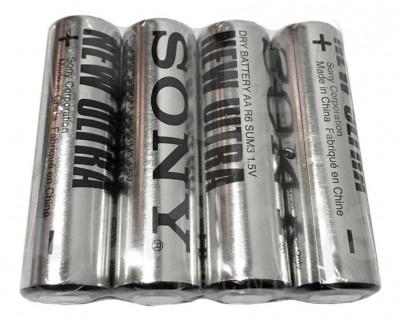 Baterii Sony New Ultra AA , LR06 zinc 1.5V 4 Baterii / Set foto