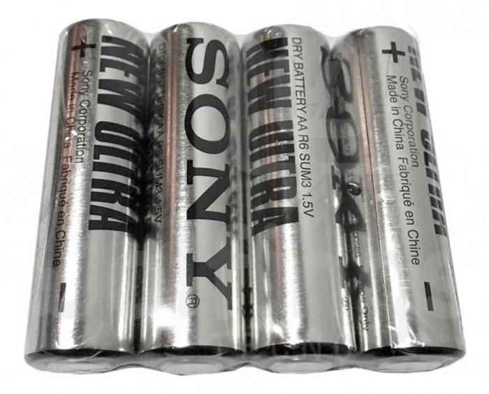 Baterii Sony New Ultra AA , LR06 zinc 1.5V 4 Baterii / Set