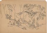 Grafica Lume de poveste, semnat Ligia Macovei, tus, 21x30 cm, Abstract, Cerneala, Suprarealism