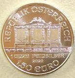 UNCIE AUSTRIA WIENER PHILARMONIKER 1,50 EURO LINGOU ARGINT 999 31,1 GRAME