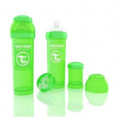Biberon Anti colici 330 ml Twistshake Verde