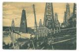 3173 - MORENI, Dambovita, oil wells, Romania - old postcard, CENSOR - used  1918, Circulata, Printata