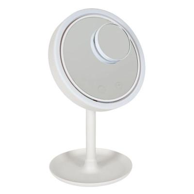 Oglinda cosmetica 3 in 1 Vanity, 20 cm, 4 x AA, USB, taste touch, ventilator inclus foto