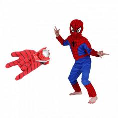 Set costum Spiderman marimea L si manusa cu lansator foto