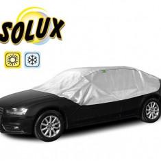 Semi Prelata auto, husa exterioara Lada 2107, pentru protectie soare si inghet, marime L Sedan, lungime 280-310cm, model Solux