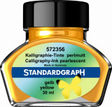 Cerneala perlata caligrafie galbena Standardgraph 30 ml
