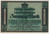 Bancnote rare Germania -20 Marci 1918