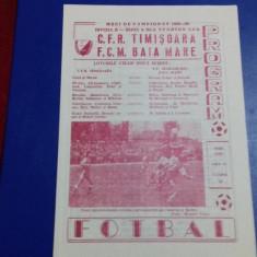 program    CFR  Timisoara   -  FCM  Baia  Mare
