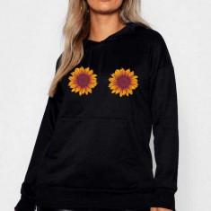 Hanorac dama negru - Sunflower, L, M, S, XL